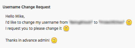 XDA Username Change Request