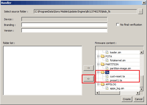 Exclude TA Files